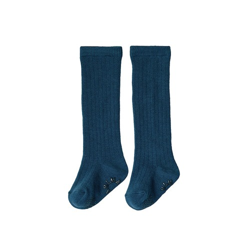 [MARLMARL] knee socks 4 shadow blue