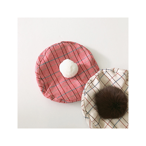 [MY LITTLE STAR] Checked beret