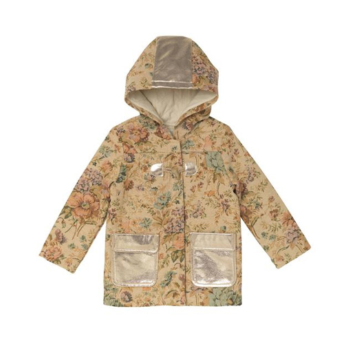 [OAKS OF ACORN]  Retro Floral Peter Parka Coat