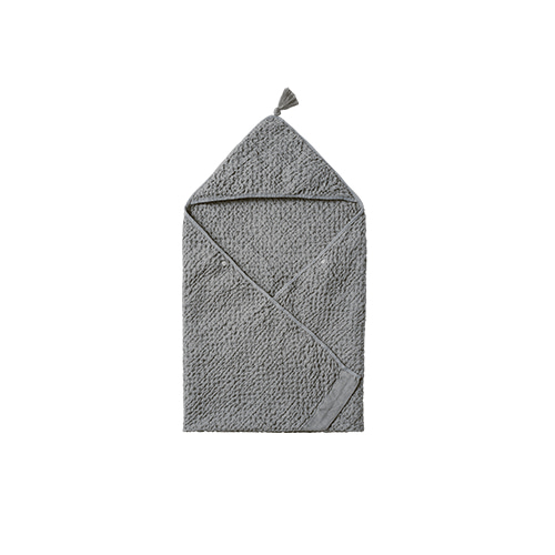 [MARLMARL] hooded towel 3 blue grey