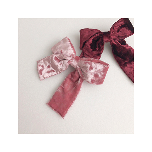 [MY LITTLE STAR] velvet ribbon hairpin