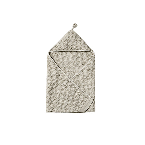 hooded towel 2 frosty grey