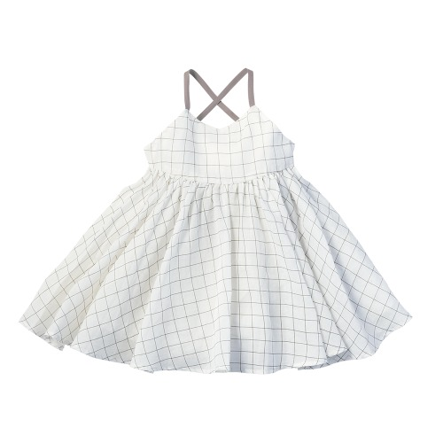 doudou dress graph white